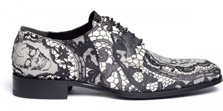Lace Print Fabric Derbies