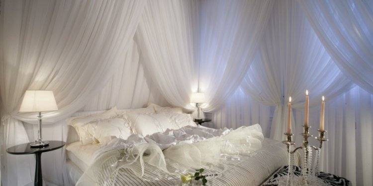 Lace Canopy Bed Curtains