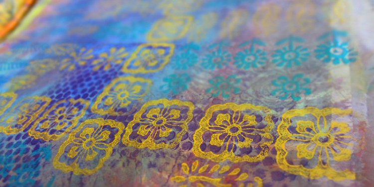 Block Printing on Fabric Paper