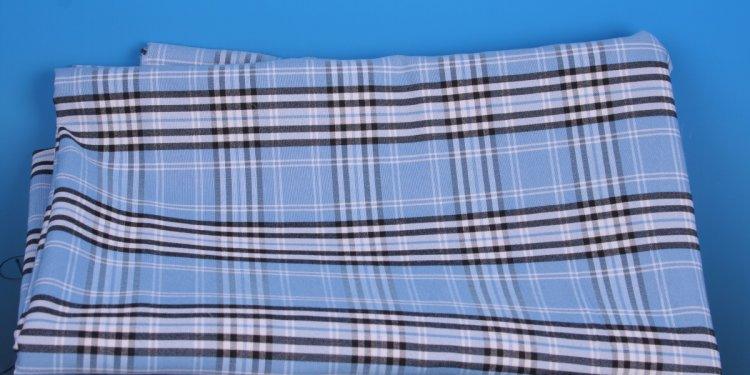 ~~BLUE TARTAN~~ viscose 4% lycra fabric