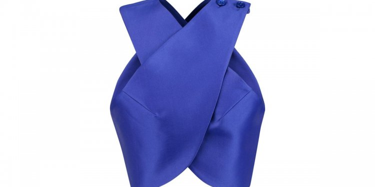 Carven Satin-twill Wrap Top in