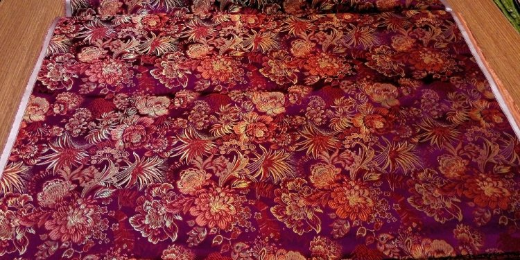 Chinese silk brocade woven