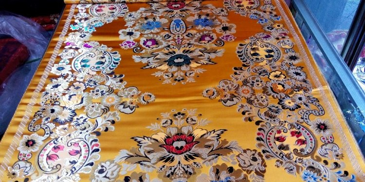 Traditional silk brocade