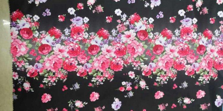 150cm printed floral single