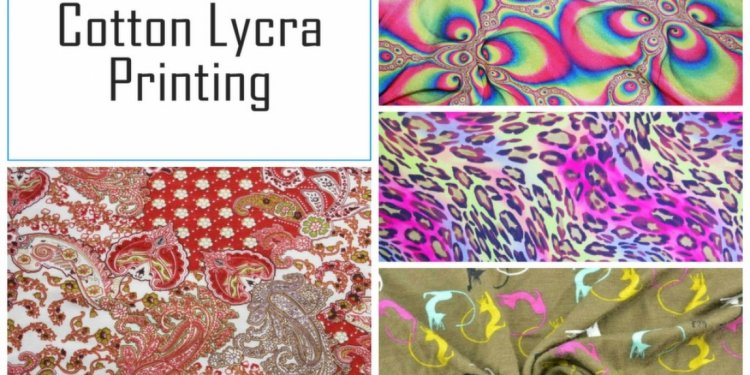 Cotton Lycra Fabric Printing