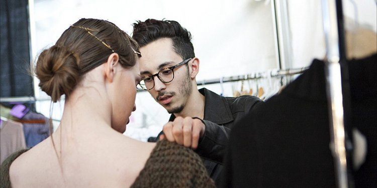 Eco Fashion Week Day 3 Evan Ducharme Fashion Collection Belladonna - Models are Getting Ready