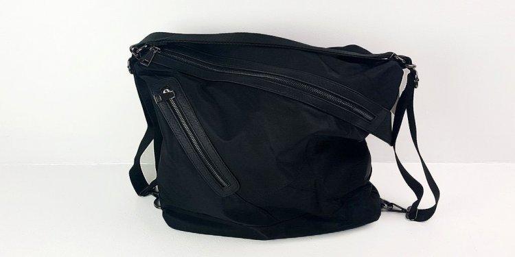 Soft nylon twill handbag that