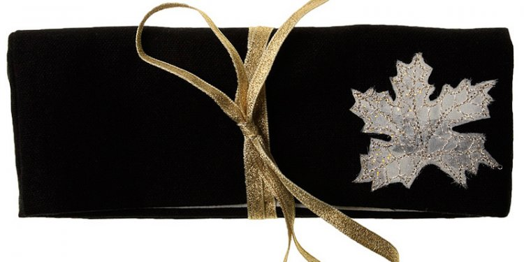 Gold Leaf Jewellery Wrap Purse