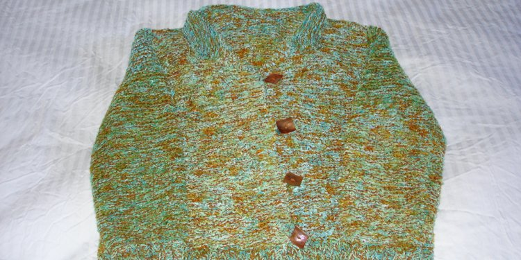 Green/Blue/Rust sweater