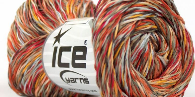 Ice Degas Cotton, Red, Brown, Blue, Orange, Yellow