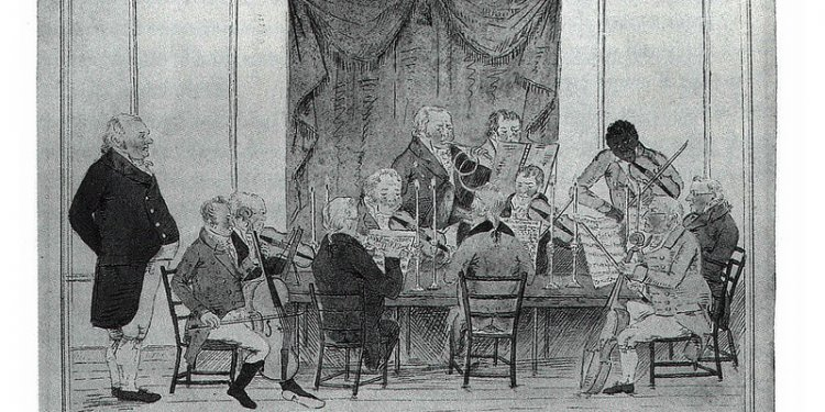 Joseph Antonia Emidy playing with A Musical Club, in Cornwall, 1808