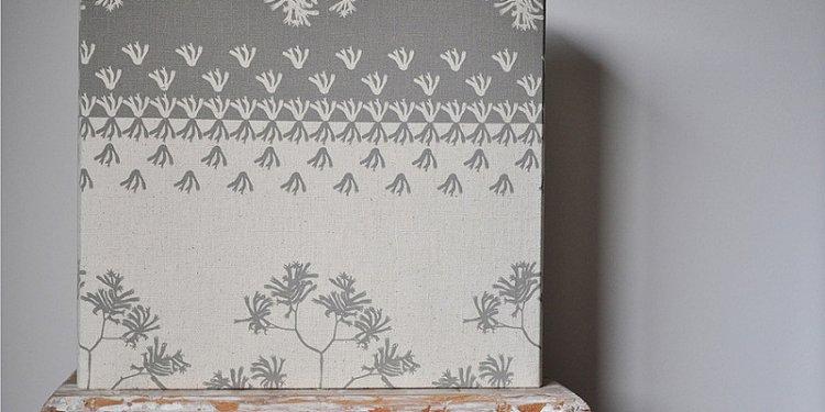Kangaroo Paw (C2) Rectangle Lampshade - hand printed eco fabric