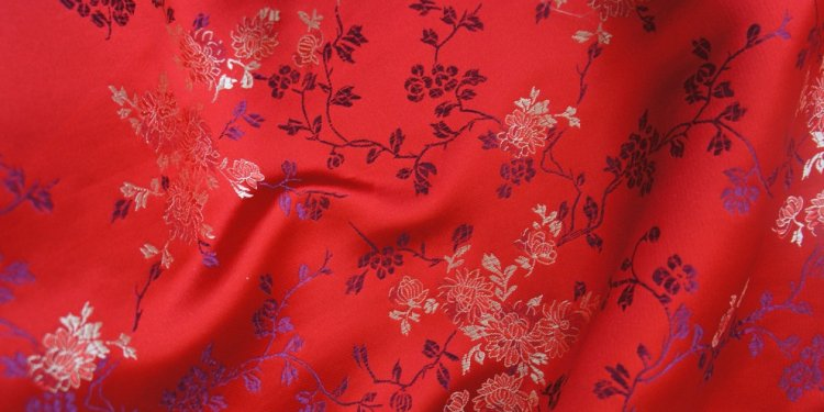 Image of: Red Brocade Fabric