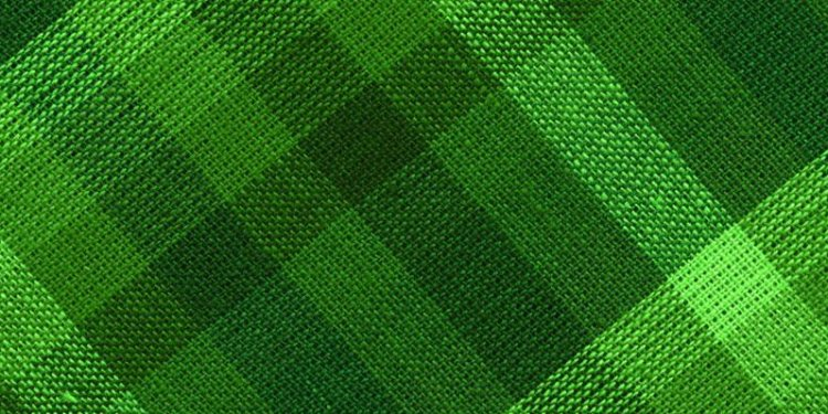 Green check fabric