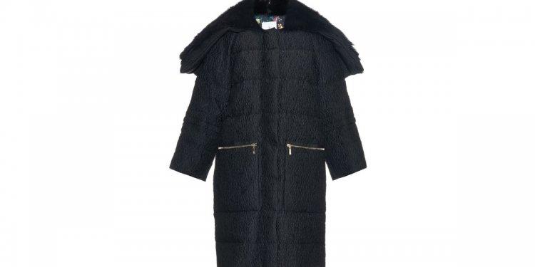 Collar Satin Brocade Coat