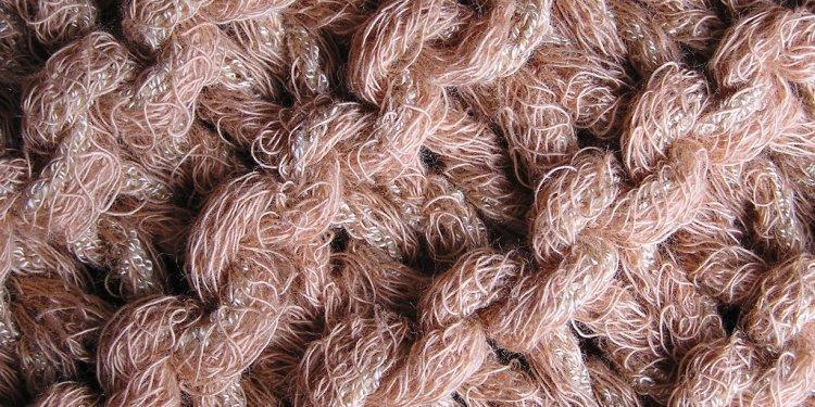 Natural - cotton handknit scarf