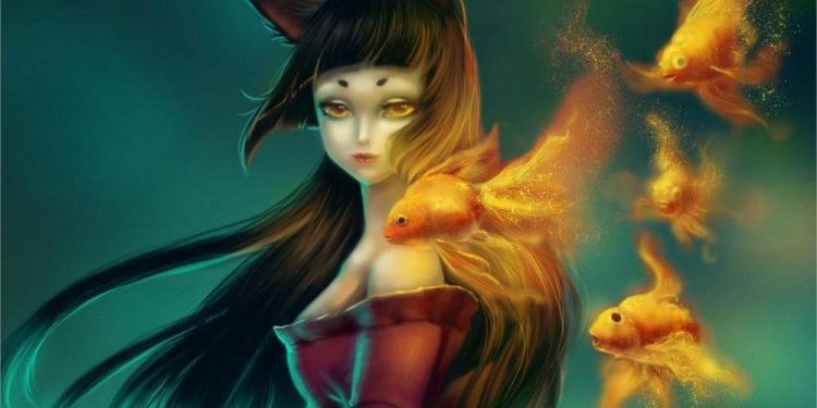 Fantasy art goldfish magic