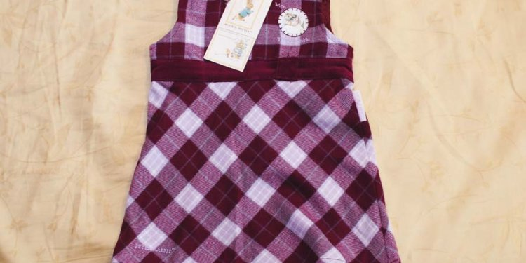 Peter Rabbit Checkered Dress @ $24
