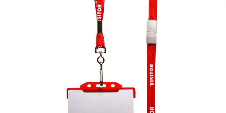 Red_visitor_lanyard_red_id_card_holder_and_id_card