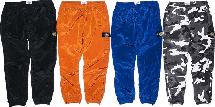 Nylon metal track pants