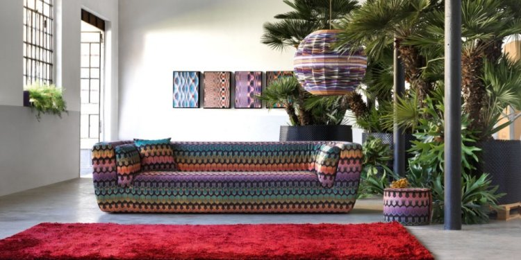 INNTIL sofa, CILINDRO pouf and