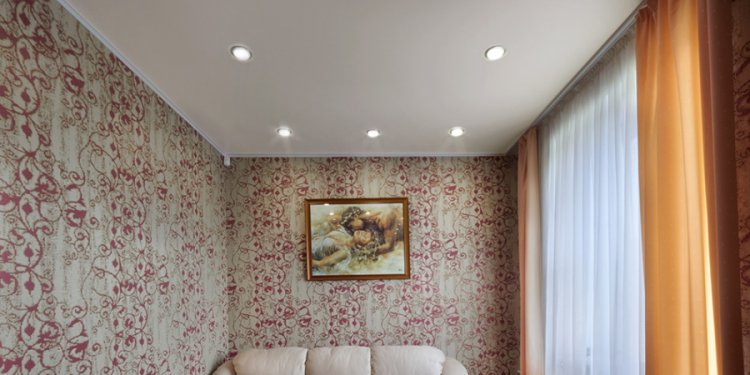 Stretch textile ceiling in