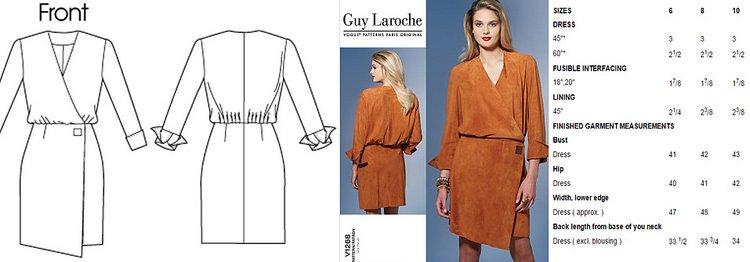 Vogue 1268 Guy Laroche dress V1268