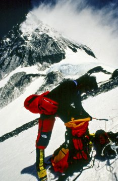 Approaching the South Col on Everest. Photo © Bill Crouse