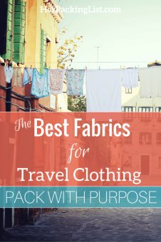 best fabrics for travel clothing