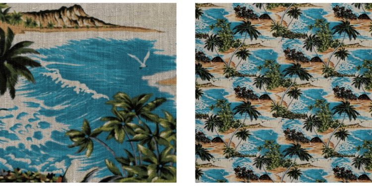 Hawaiian prints Upholstery Fabric
