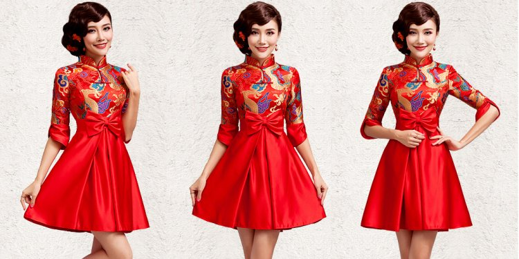 Chinese Brocade Dress