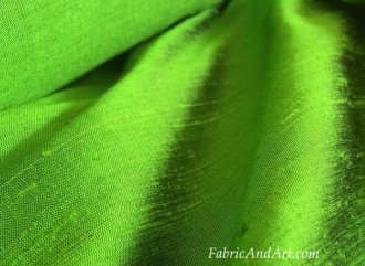 green silk dupioni fabric