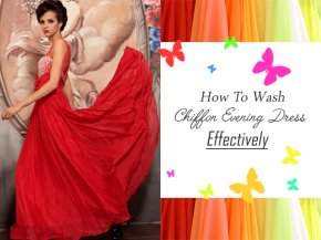 How To Wash Chiffon Evening Dress Effectively