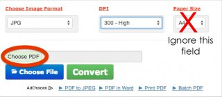 "I like this site,  www.convert-my-image.com. Just select ""300 dpi"" and upload the PDF you've just created. You can ignore 'Paper size',  the last field."