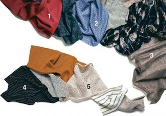 Knits give you great leeway when fitting and are very comfortable to wear.