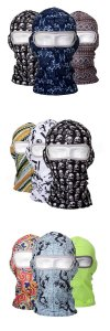 Lycra Balaclava Waterproof Sunscreen Full Face Mask Flower Printed UV Protection Ski Mask