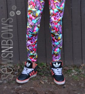 McCalls 6275: Girls Leggings in a Lycra from Funki Fabrics