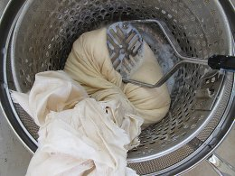 muslin used for rendering soy milk