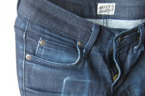 Naked & Famous Cashmere Stretch Denim,  81% Cotton 16% Cashmere 3% Elastane