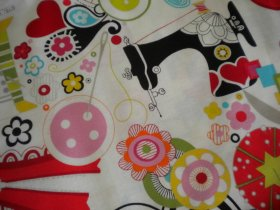Patterned Fabric with Sewing Theme