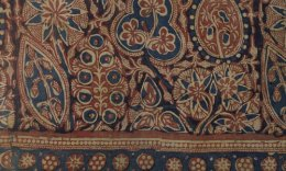 Pre-Mughal block printed ceremonial banner from Gujarat, 1340