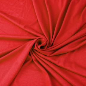 Red Scarlet Viscose Spandex Fabric