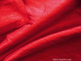 red silk dupioni