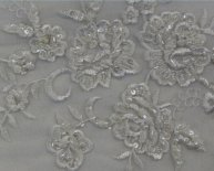 Beaded Silk Chiffon Fabric