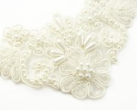 Ivory Stretch Lace fabric