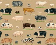 Pig Print Fleece Fabric