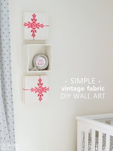 Vintage Fabric Wrapped DIY Wall Art