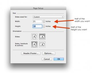 "You might get a warning that this size is larger than printable area of your paper-just click ""ok""."